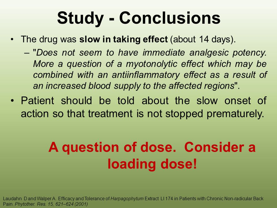 A question of dose. Consider a loading dose!