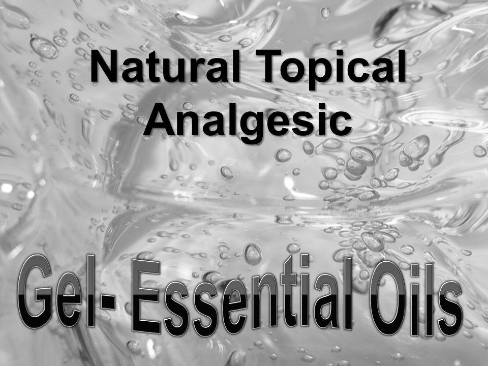 Natural Topical Analgesic