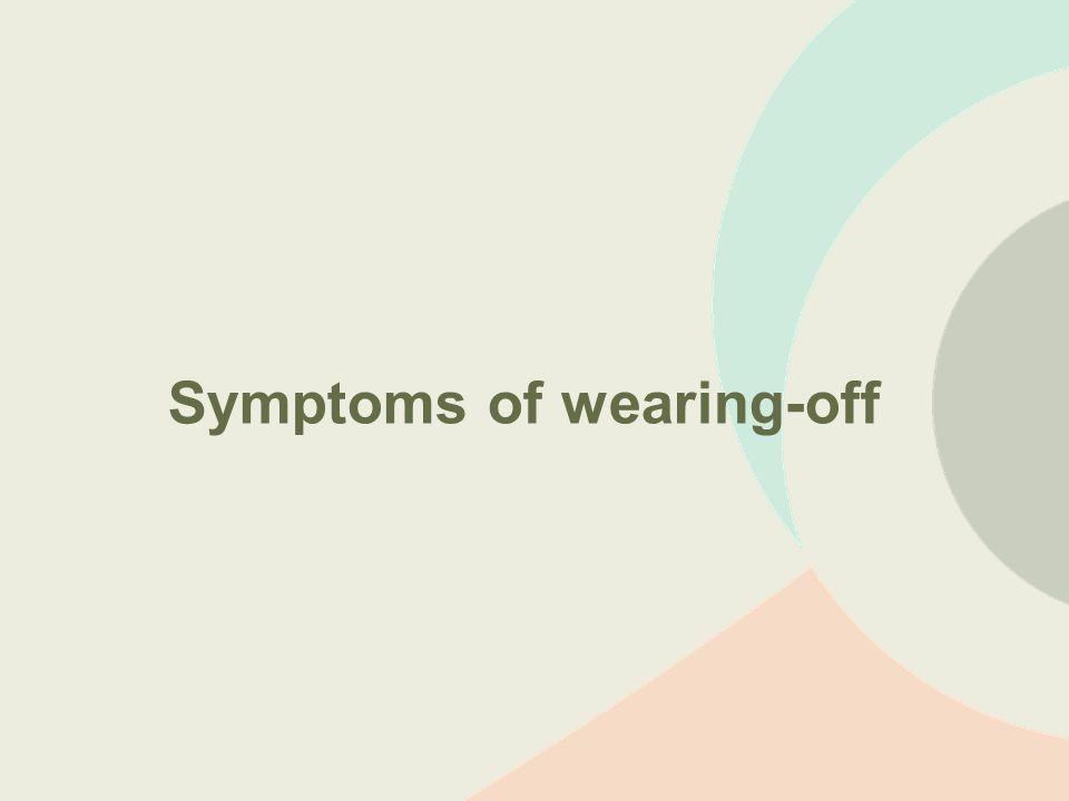 Symptoms of wearing-off