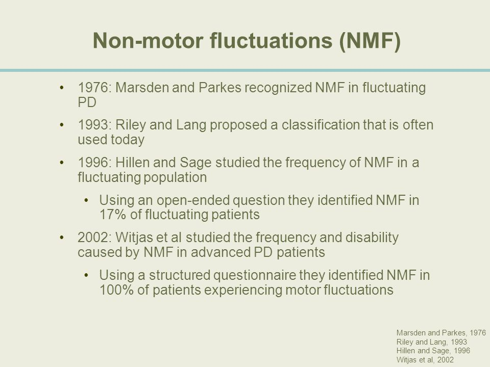 Non-motor fluctuations (NMF)