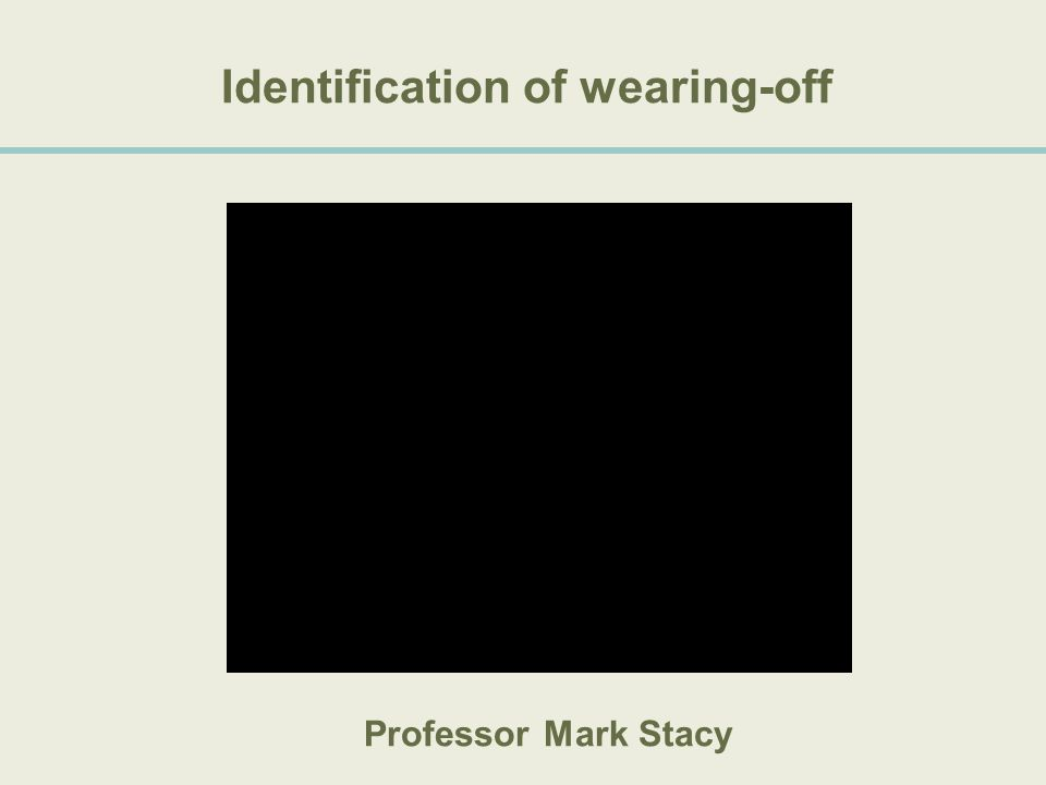 Identification of wearing-off