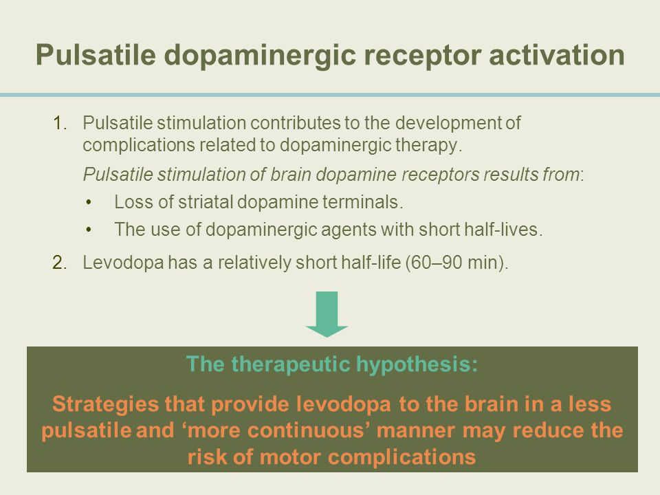 Pulsatile dopaminergic receptor activation