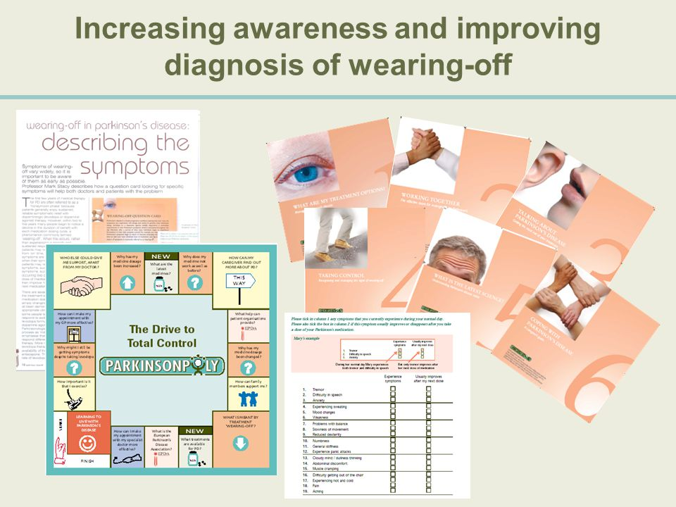 Increasing awareness and improving diagnosis of wearing-off
