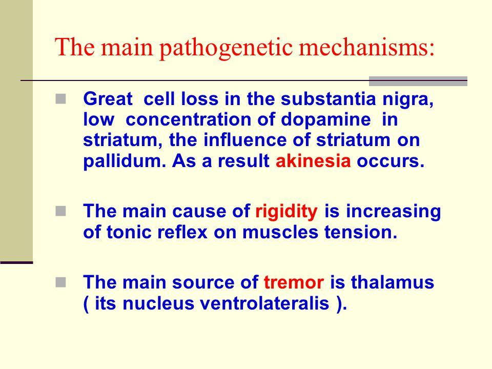 The main pathogenetic mechanisms: