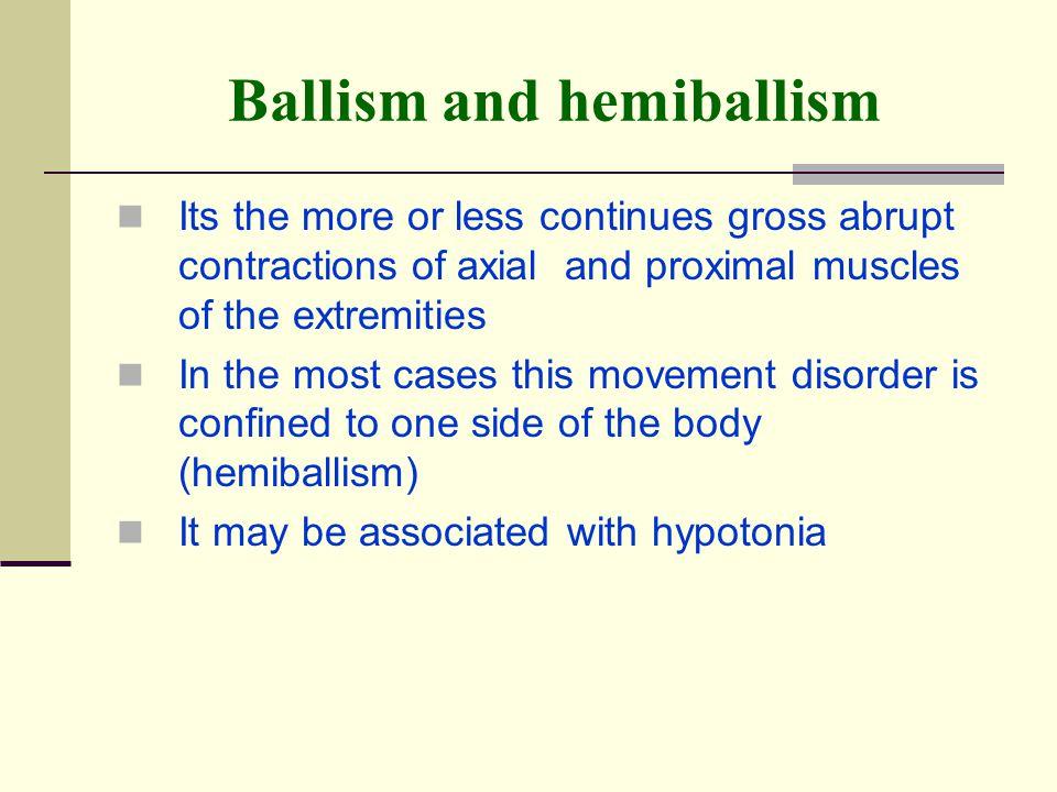 Ballism and hemiballism