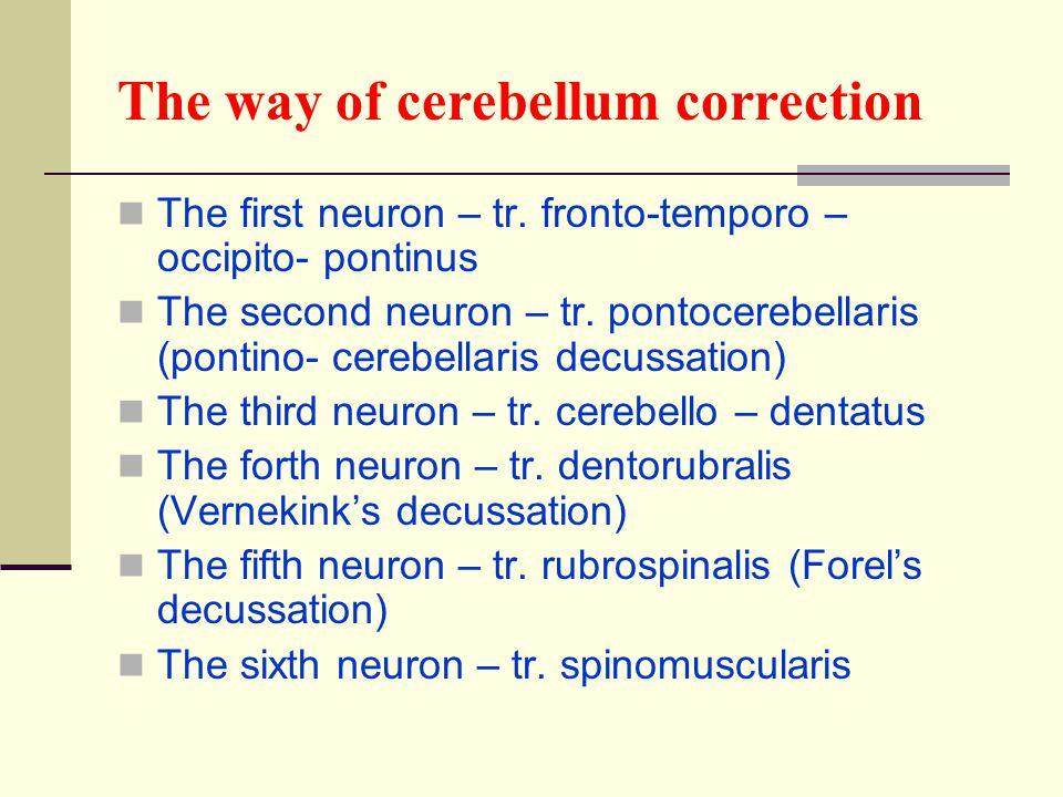 The way of cerebellum correction