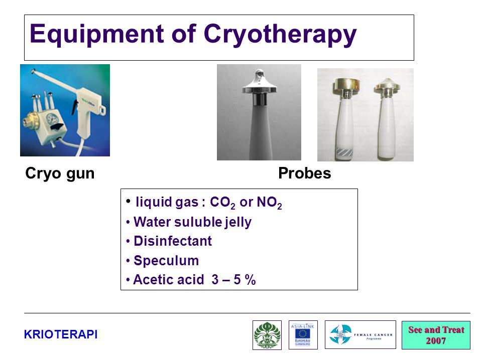 Equipment of Cryotherapy