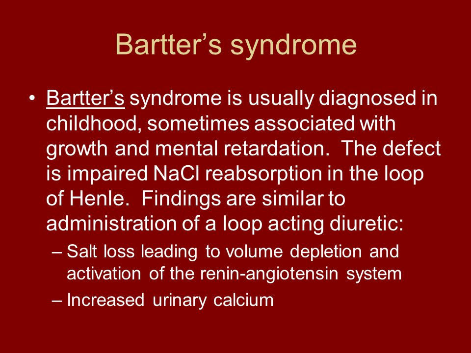 Bartter's syndrome