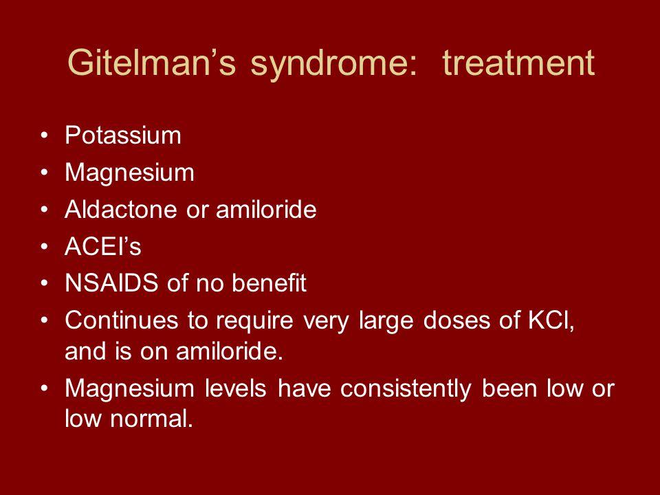 Gitelman's syndrome: treatment