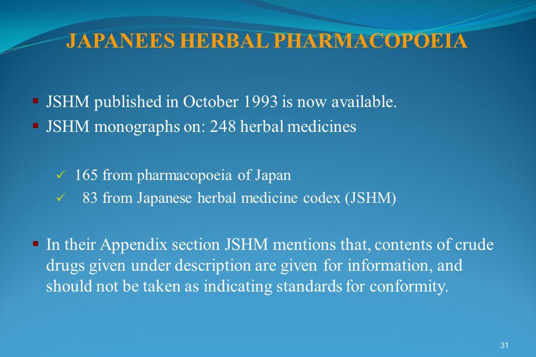 JAPANEES HERBAL PHARMACOPOEIA