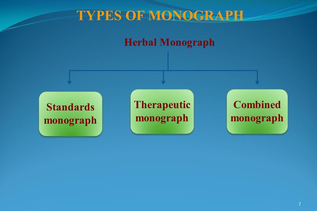 Therapeutic monograph