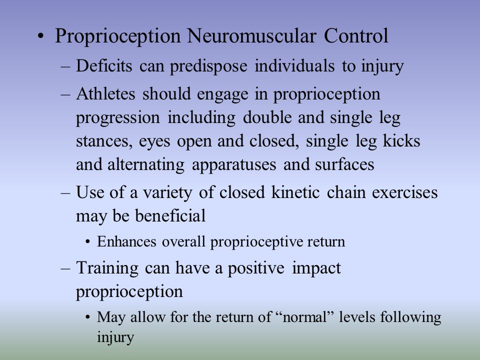 Proprioception Neuromuscular Control