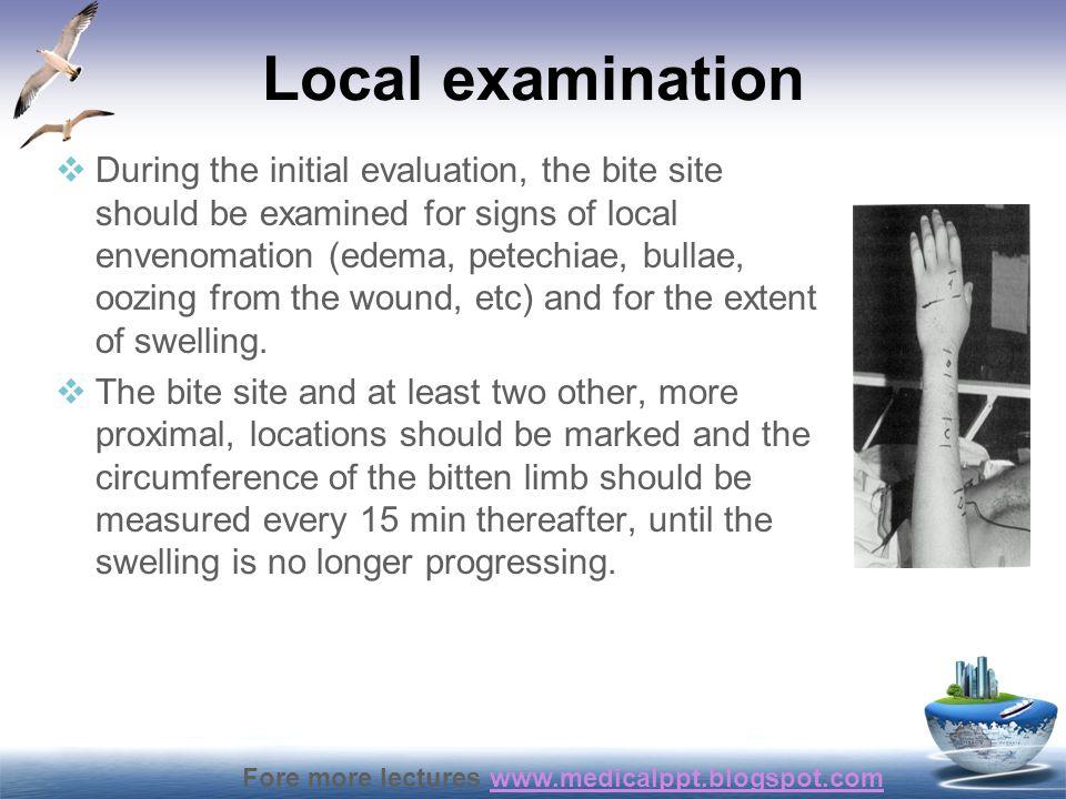 Local examination