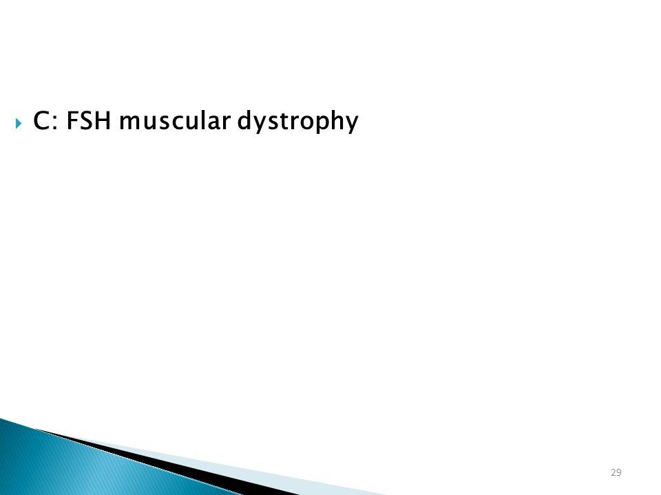 C: FSH muscular dystrophy