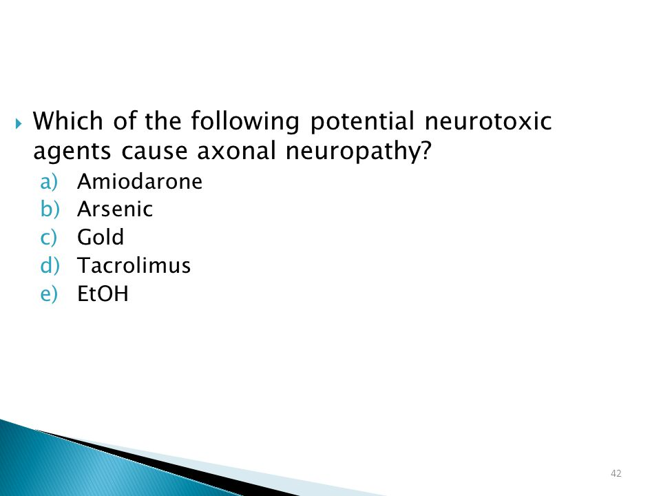 Which of the following potential neurotoxic agents cause axonal neuropathy