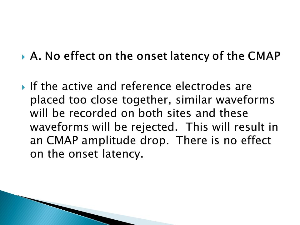 A. No effect on the onset latency of the CMAP