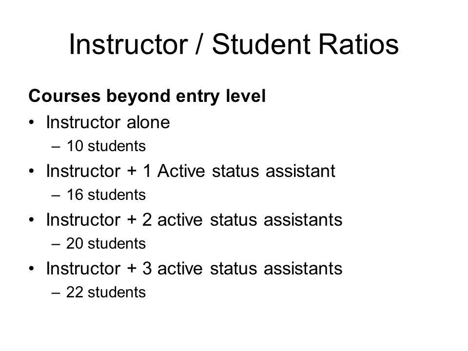 Instructor / Student Ratios