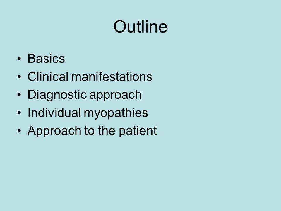 Outline Basics Clinical manifestations Diagnostic approach