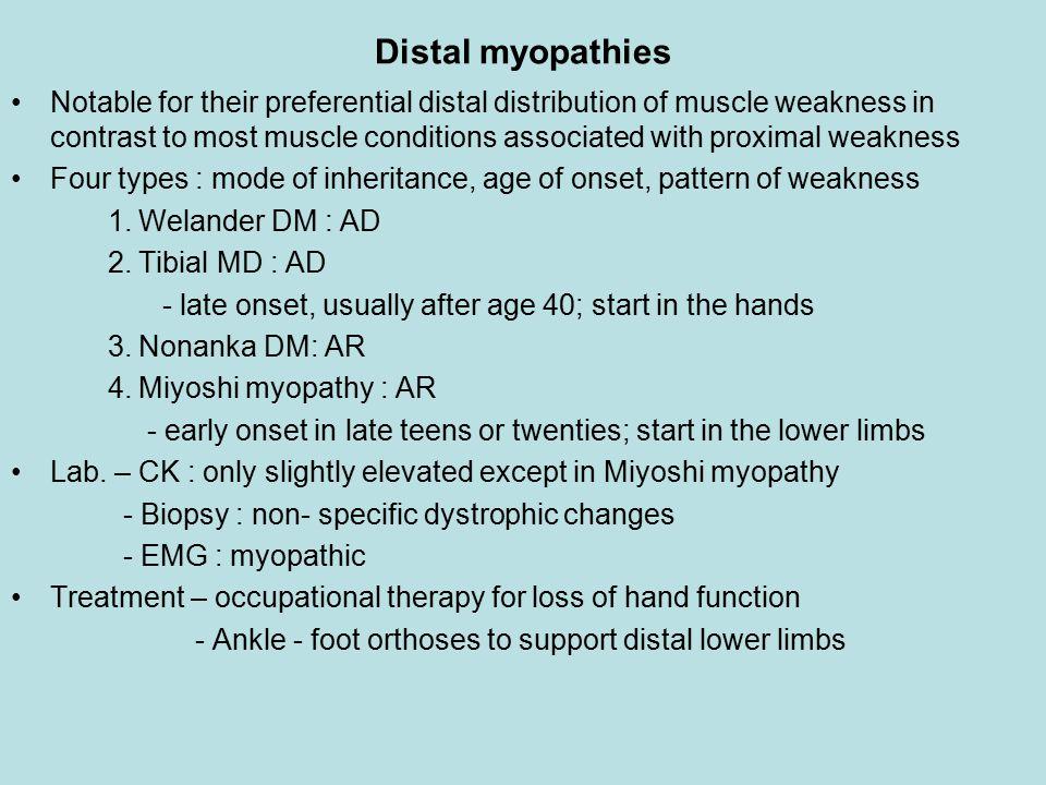 Distal myopathies