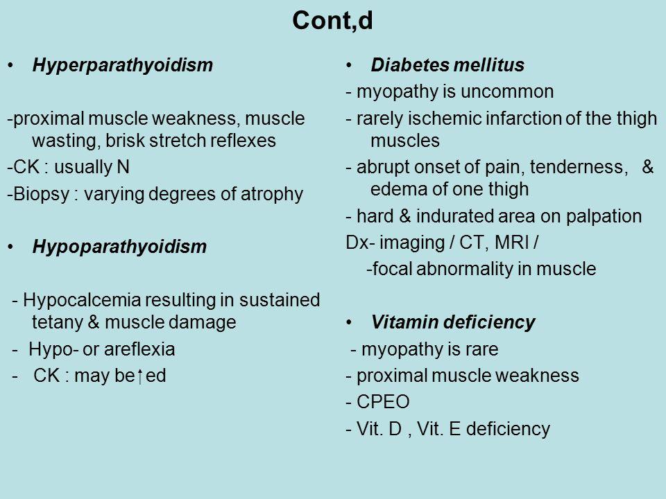 Cont,d Hyperparathyoidism