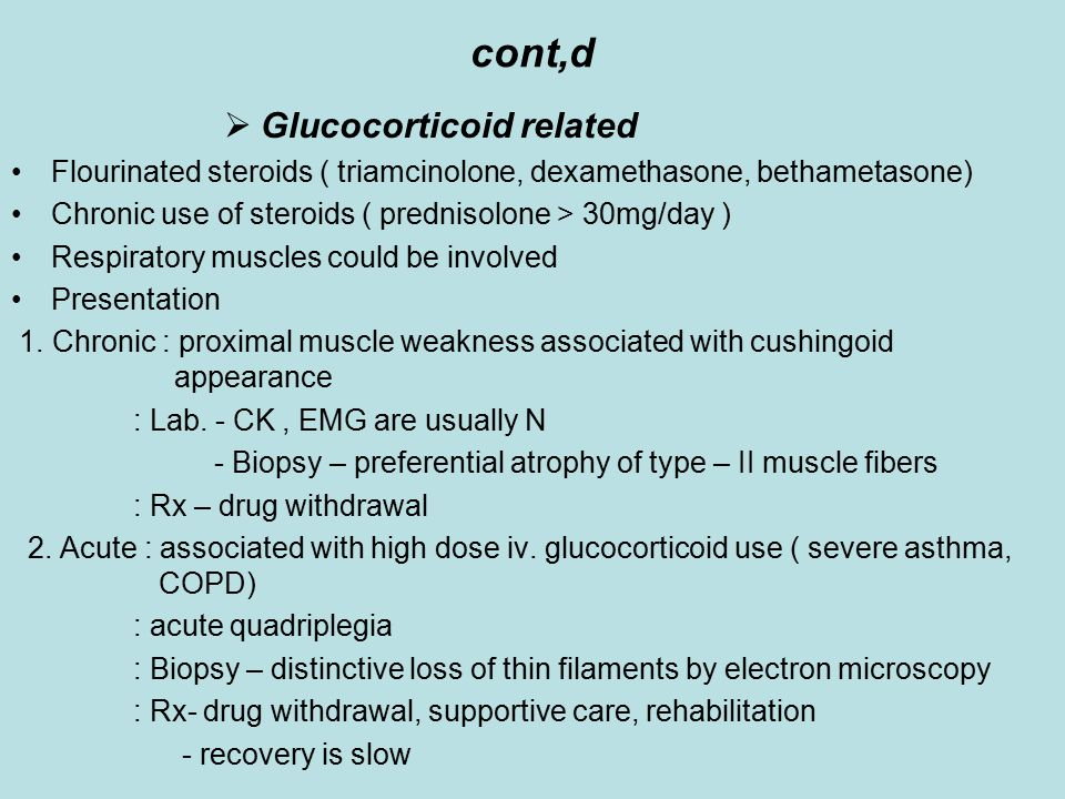 cont,d Glucocorticoid related