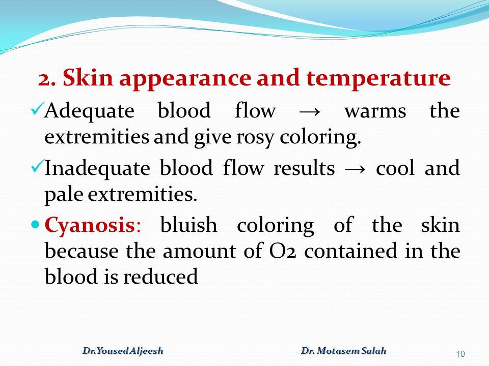 2. Skin appearance and temperature Dr.Yoused Aljeesh Dr. Motasem Salah