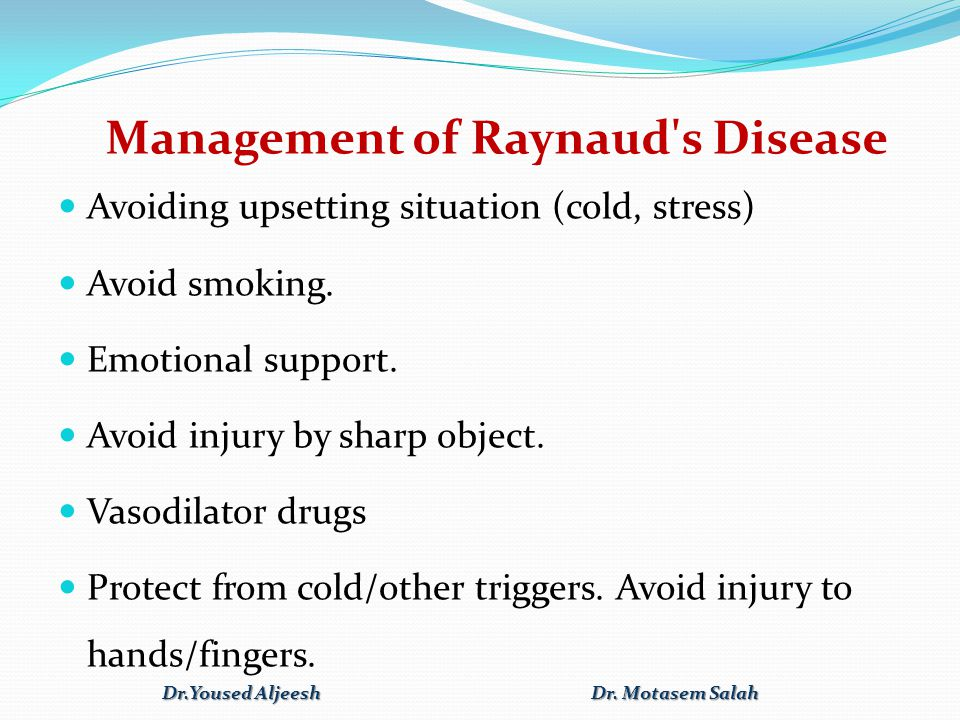 Management of Raynaud s Disease