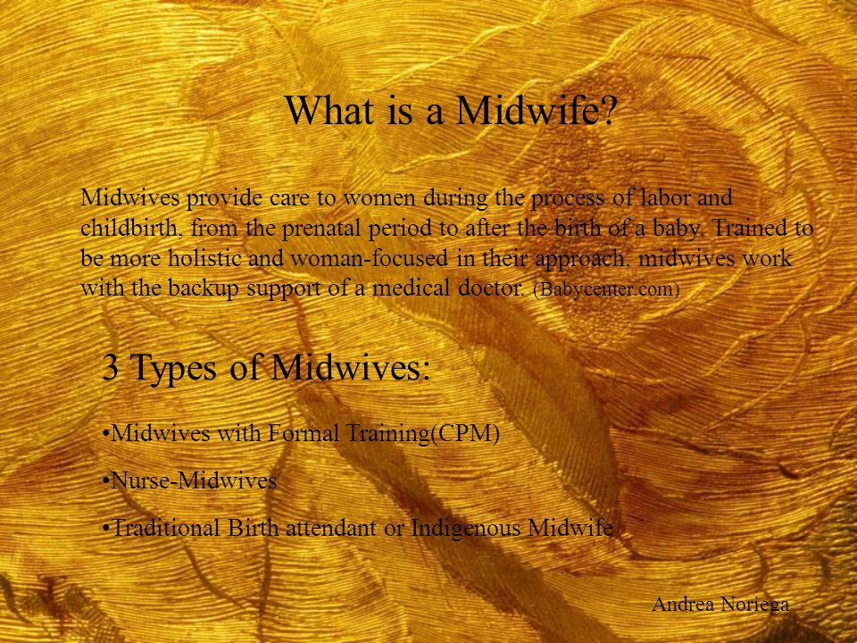 What is a Midwife 3 Types of Midwives: