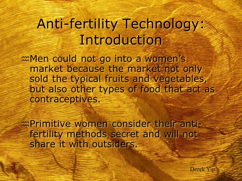 Anti-fertility Technology: Introduction
