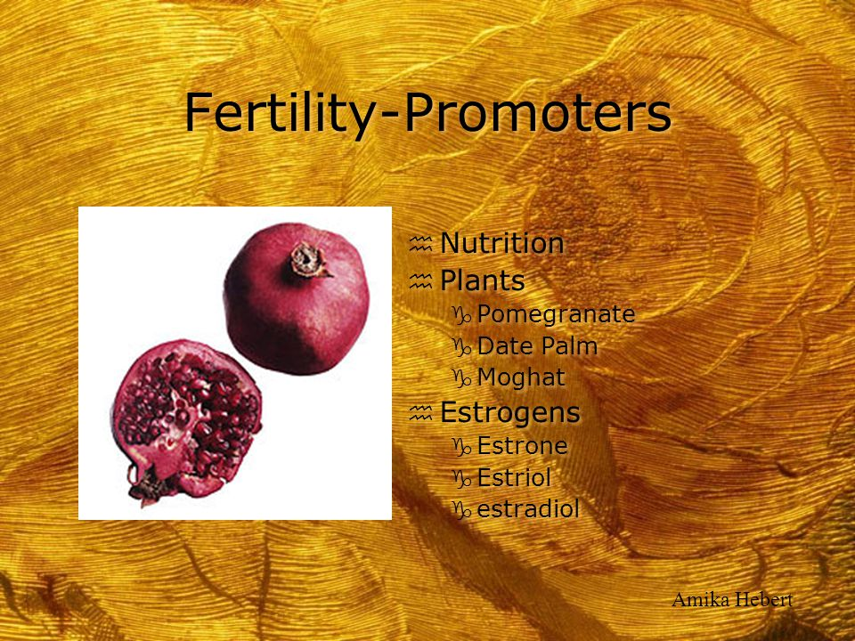 Fertility-Promoters Nutrition Plants Estrogens Pomegranate Date Palm