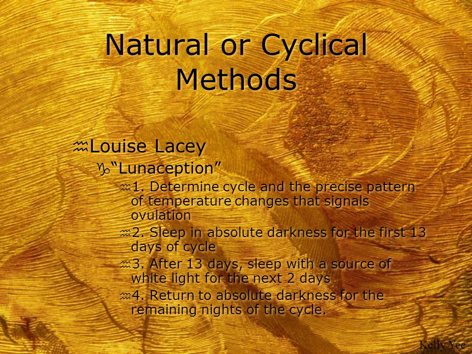Natural or Cyclical Methods