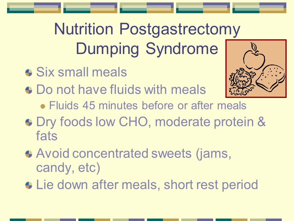 Nutrition Postgastrectomy Dumping Syndrome