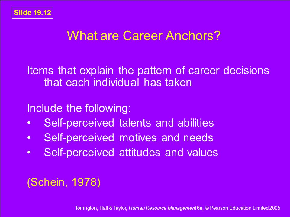 What are Career Anchors