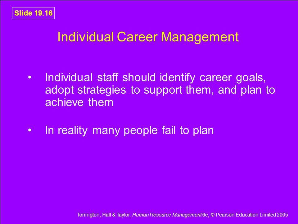 Individual Career Management