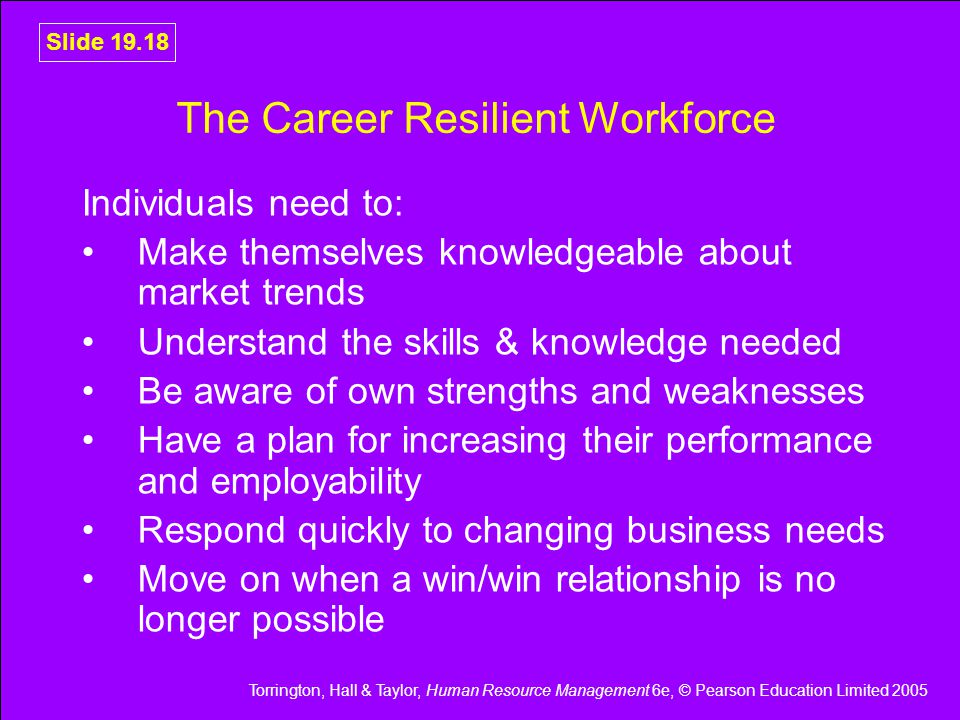 The Career Resilient Workforce