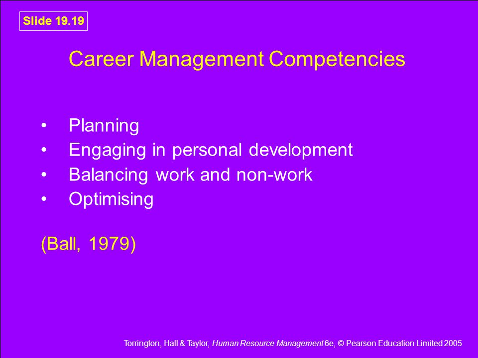 Career Management Competencies