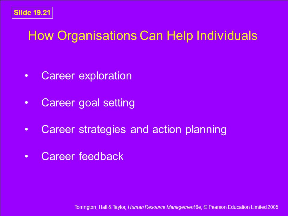 How Organisations Can Help Individuals