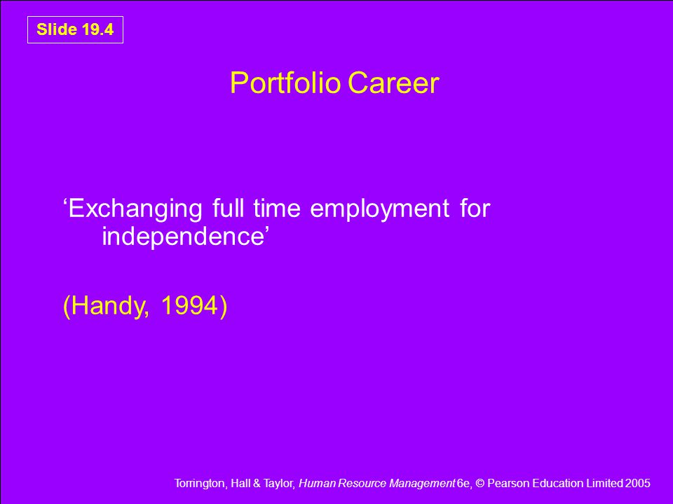 Portfolio Career 'Exchanging full time employment for independence'