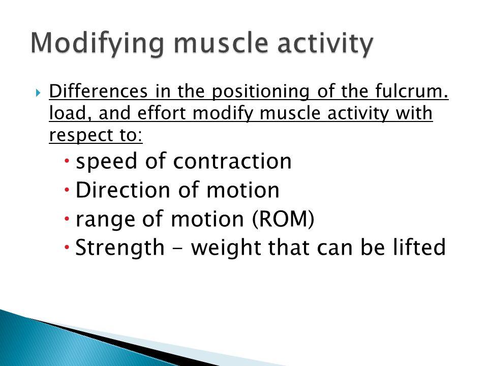 Modifying muscle activity