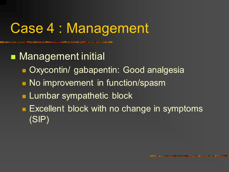 Case 4 : Management Management initial
