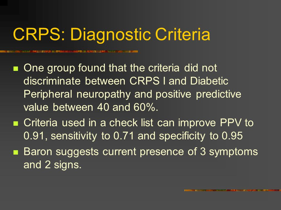 CRPS: Diagnostic Criteria