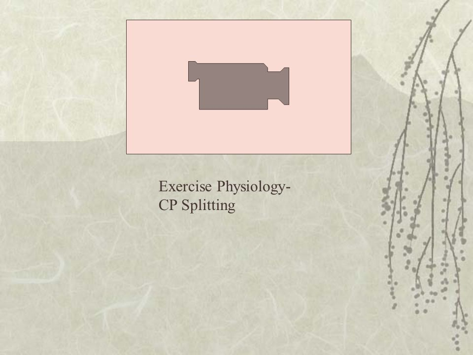 Exercise Physiology- CP Splitting