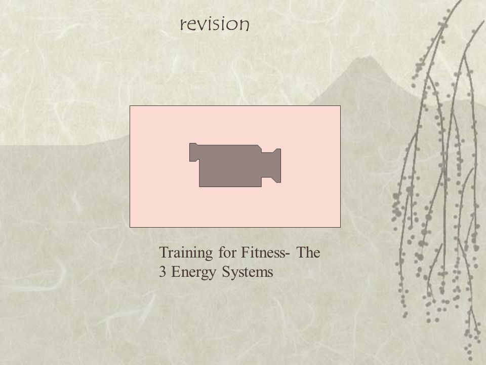 revision Training for Fitness- The 3 Energy Systems