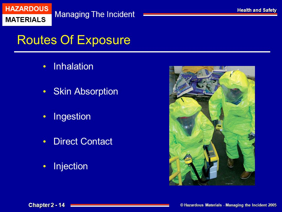 Routes Of Exposure Inhalation Skin Absorption Ingestion Direct Contact