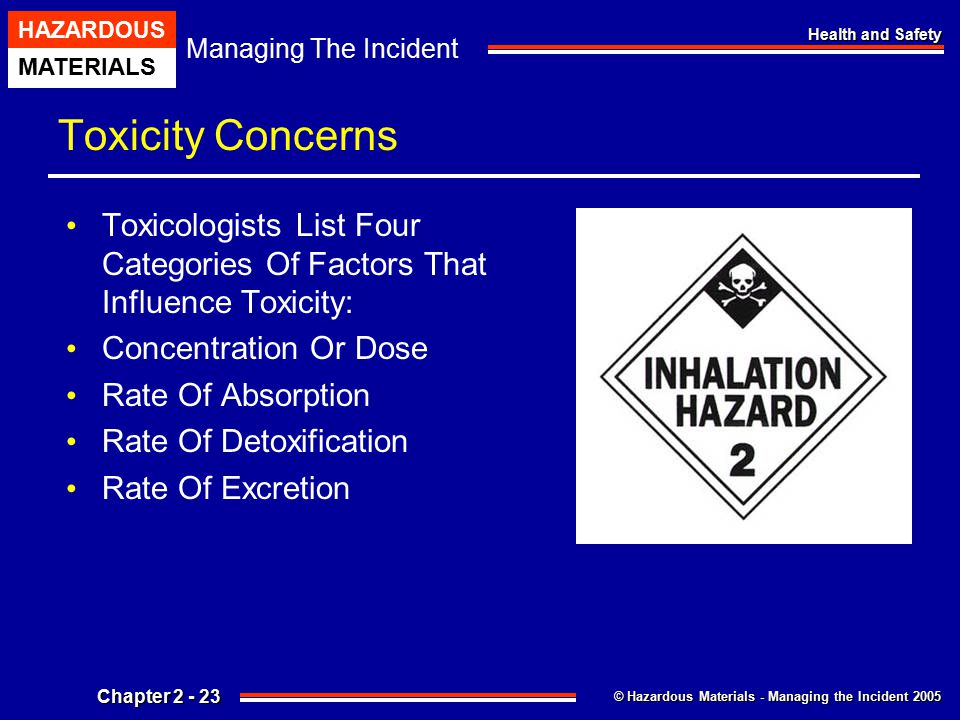 Toxicity Concerns Toxicologists List Four Categories Of Factors That Influence Toxicity: Concentration Or Dose.