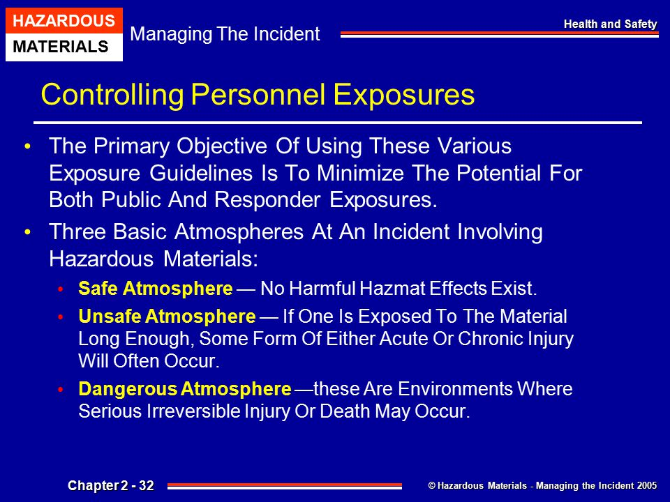 Controlling Personnel Exposures