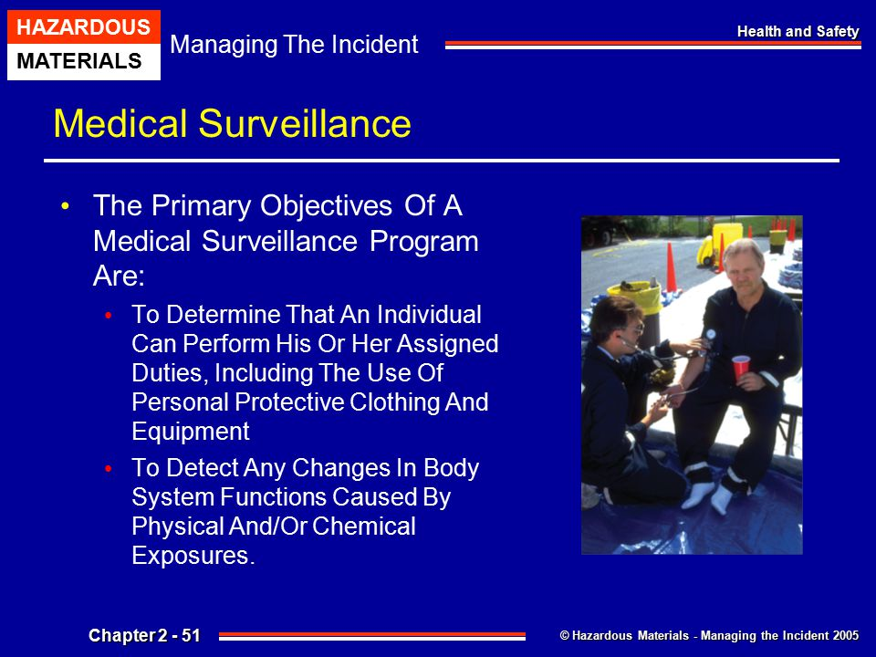 Medical Surveillance The Primary Objectives Of A Medical Surveillance Program Are:
