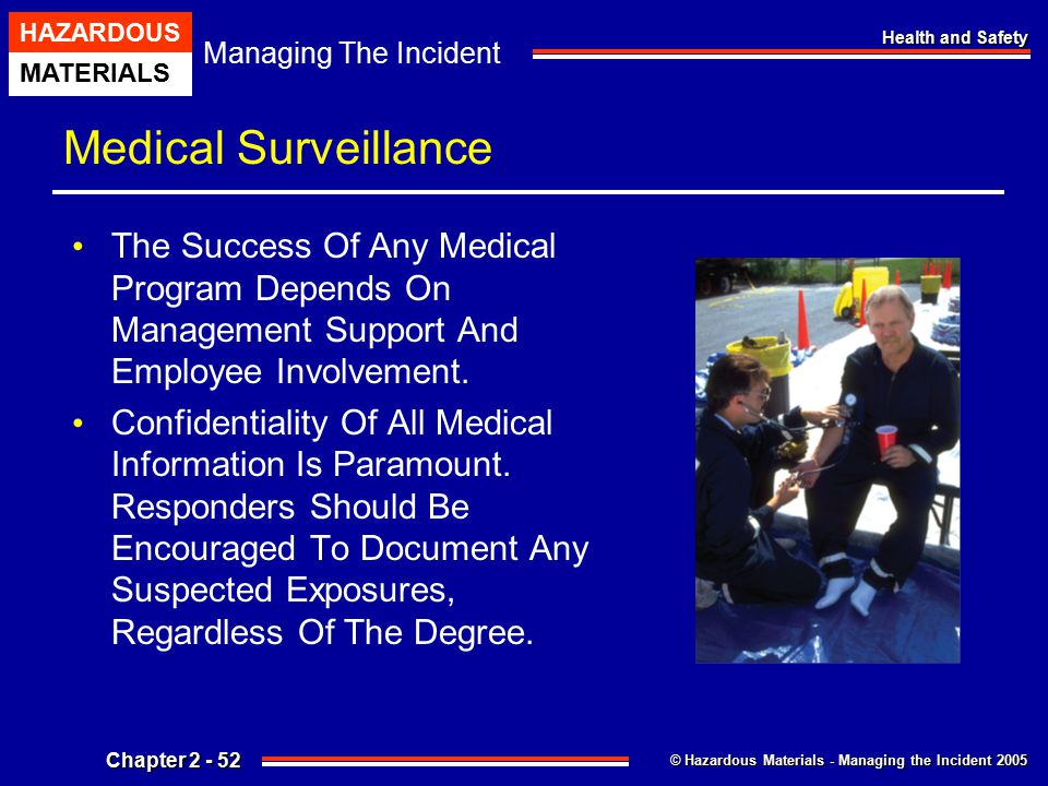 Medical Surveillance The Success Of Any Medical Program Depends On Management Support And Employee Involvement.