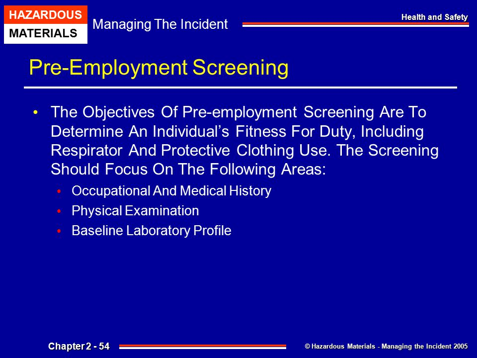 Pre-Employment Screening