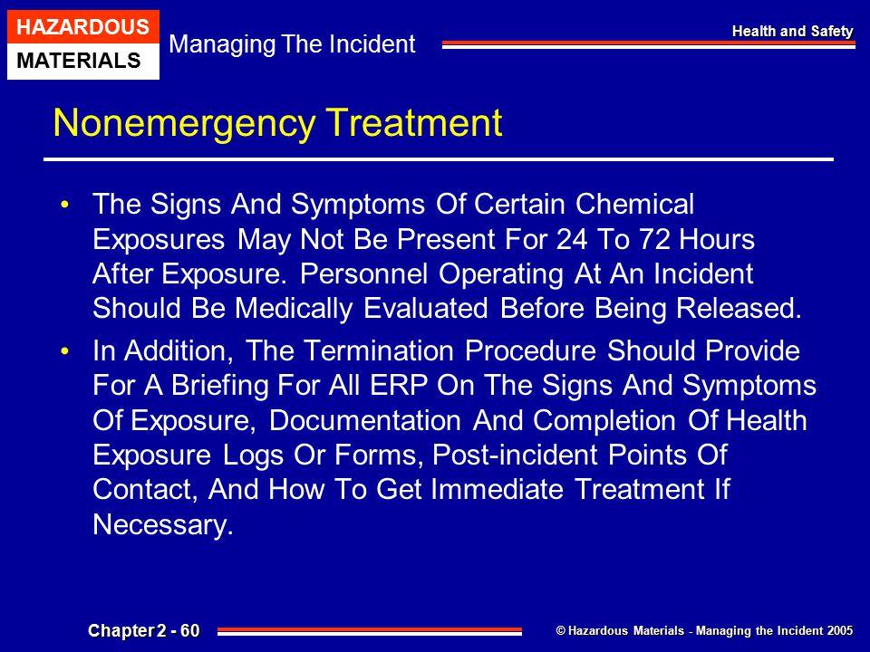 Nonemergency Treatment